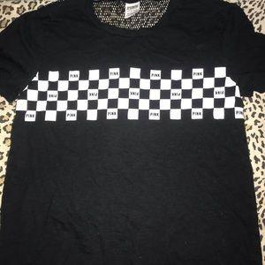 checkered Victoria's Secret tshirt. Size small